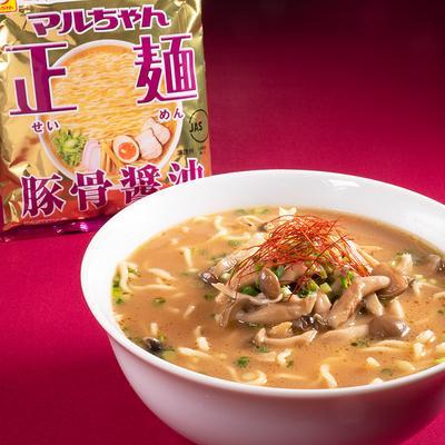 マルちゃん正麺公式 バタポンきのこの豚骨醤油ラーメン