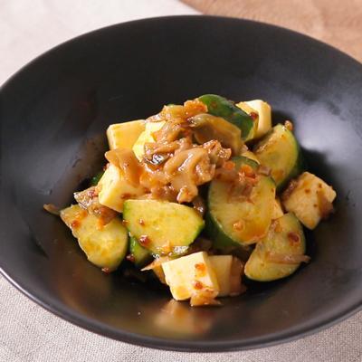 チーズときゅうりの中華風簡単おつまみ