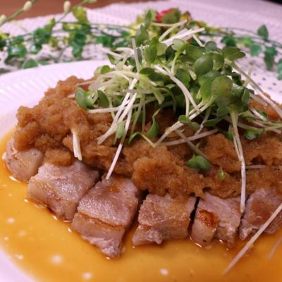 豚肉のソテー〜大根おろしのバタポンソース〜