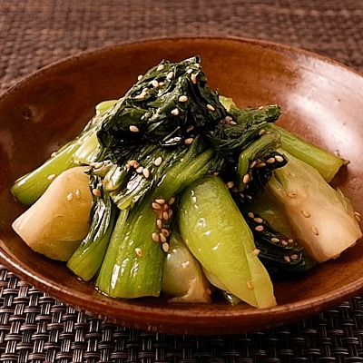 チンゲン菜のシンプルナムル