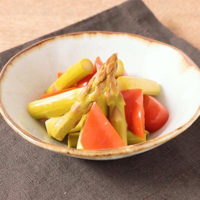 ゆず胡椒香る アスパラガスとパプリカのピクルス