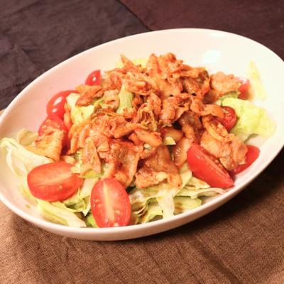 スピーディーに簡単!豚キムチサラダ