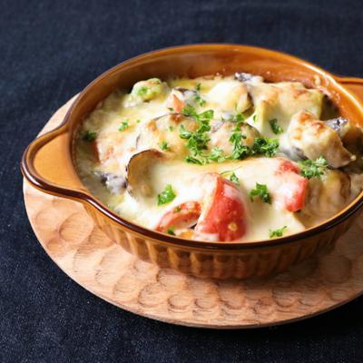 コーンスープの素で簡単 野菜グラタン風