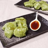 豆腐で抹茶わらび餅