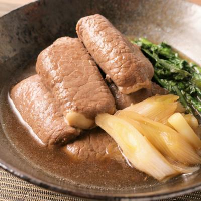 牛肉巻き豆腐のすき煮