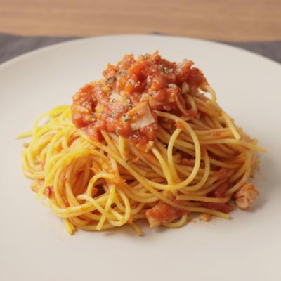 トマト缶で 簡単アラビアータ