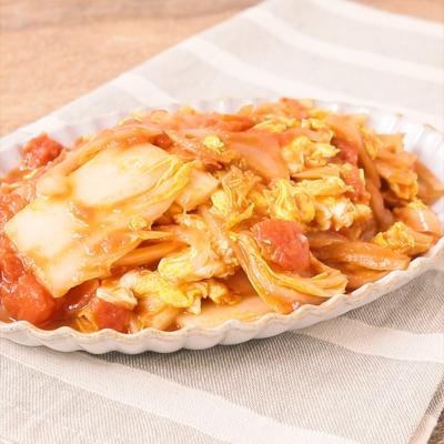 アンチョビが決め手 白菜と炒り卵のトマト煮