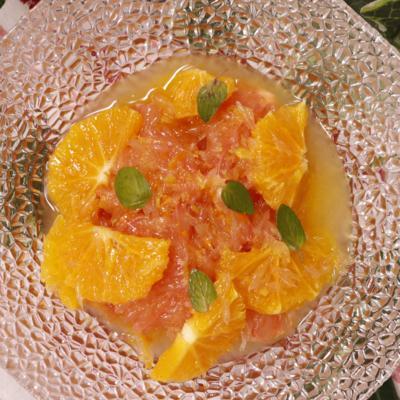 オレンジとグレープフルーツのマリネ