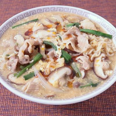 インスタント麺で作る サンラータン麺風