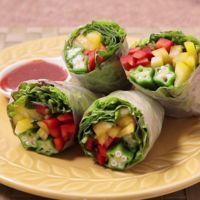 コチュマヨソースで食べる 野菜たっぷりベジ生春巻き