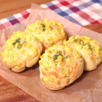 朝ごパンに!ホットケーキミックスでマヨコーンパン