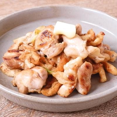 鶏肉と長ねぎの香ばしバター醤油炒め