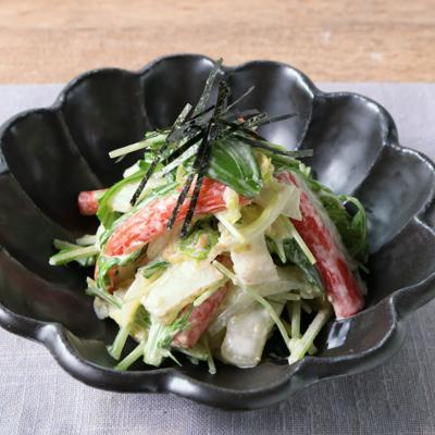 白菜と水菜の胡麻マヨサラダ