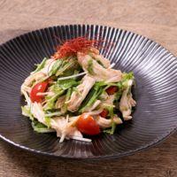 ごま香る チキンと水菜の中華サラダ