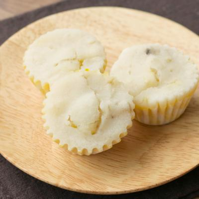 レンジで簡単 上新粉バナナ蒸しパン
