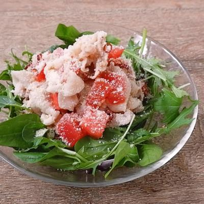 豚しゃぶのトマトペペロンチーノ風おかずサラダ