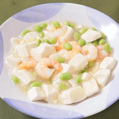 エビと枝豆の白麻婆豆腐