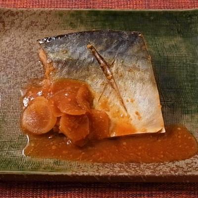 圧力鍋で作る サバの味噌煮