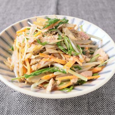ごぼうとツナのゆず胡椒サラダ