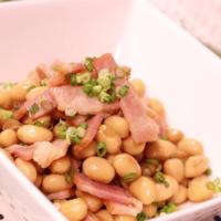 レンジで簡単!大豆とベーコンの洋風煮豆!
