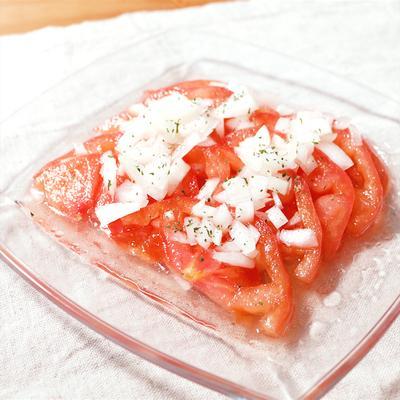 簡単!ひんやり美味しい冷やしトマトサラダ