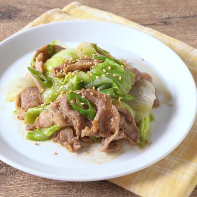 ピリ辛 レタスと豚肉の青唐辛子炒め