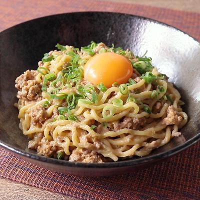 花椒でしびれる 汁なし担々麺