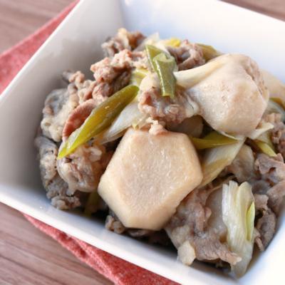 ホクホク里芋と牛肉の煮物