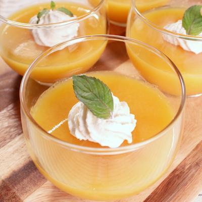 オレンジジュース寒天
