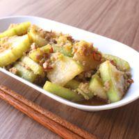 冬瓜と豚ひき肉の炒め物