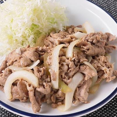 こってりソース味の豚の生姜焼き