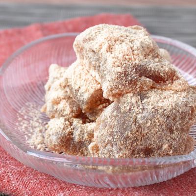 タピオカ粉で 黒糖わらび餅風