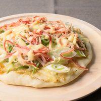 長ねぎどっさり 手作り生地のマヨぽんピザ
