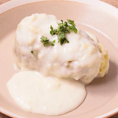 ホワイトソースのチーズインロールキャベツ