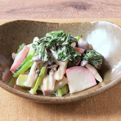 かまぼこと小松菜の簡単和え