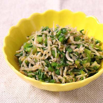 常備菜 カブの葉とじゃこ炒め