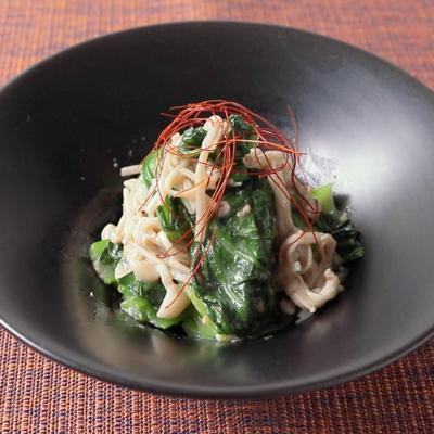 低糖質なおつまみに えのきと小松菜のナムル