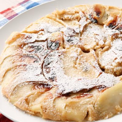 りんごのシナモンホットケーキ