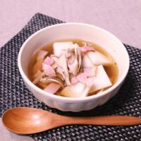 レンジで簡単!大根と舞茸のスープ