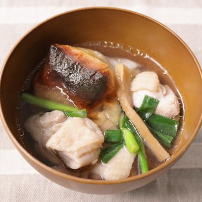 メンマの入った中華風雑煮