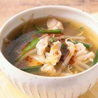 もやしと豚バラの中華風スープ