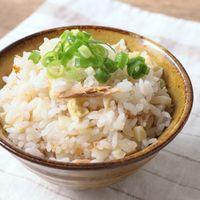 タケノコとツナの炊き込みごはん