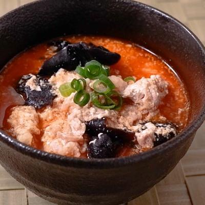 ゆし豆腐風ピリ辛スープ