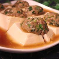 レンジで簡単!豆腐の肉詰めレンジ蒸し