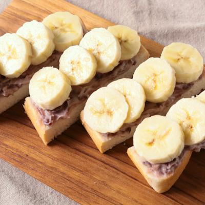 食パンで あんことバナナのチーズスティック