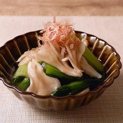 小松菜とまいたけの煮浸し