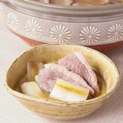 香ばし焼きネギの鴨鍋