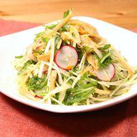 水菜と大根のメンマ和えサラダ