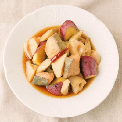 秋鮭と根菜の南蛮漬け