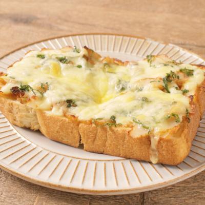 さつま揚げの大葉チーズトースト